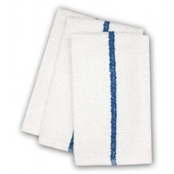 Center Stripe Towels, Blue