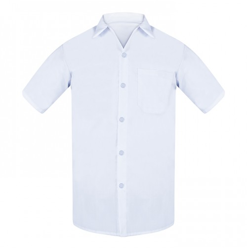 Cook Shirt,  White w/Buttons