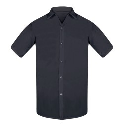 Black Cook Shirts, 100% Spun Poly, No Pocket