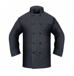 Black Chef Coat, Poplin