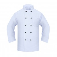 Black Button Chef Coat