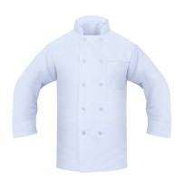Chef Coat - 100% Spun Poly Poplin, White