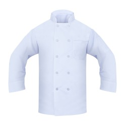 Chef Coat, 100% Spun Poly Poplin, White