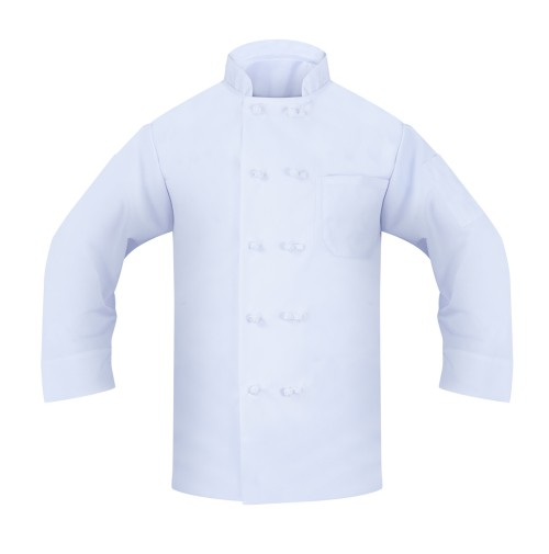 Chef Coat w/Knotted Buttons, 100% Cotton