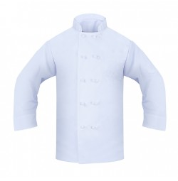Chef Coat, 65/35, Knotted Buttons