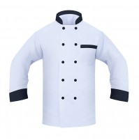 Chef Coat, w/Black Trim