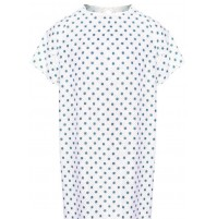 Patient Gowns, Snow Flurry Print, by American Dawn