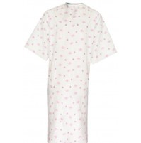 Patient Gowns, Rose Flower Mound Print, American Dawn