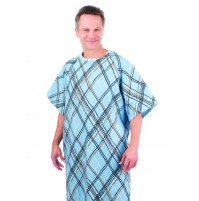 Patient Gowns, Niah Plaid Print, American Dawn