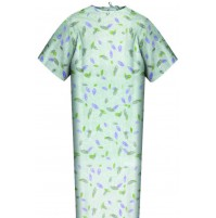 Patient Gowns, Muhly Ice Print, by American Dawn