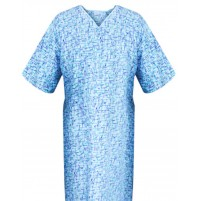 Patient Gown Radiant Wave Print