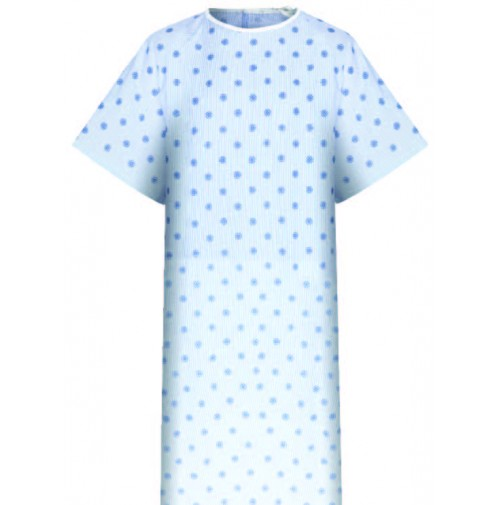 Patient Gowns, Compass Print, American Dawn
