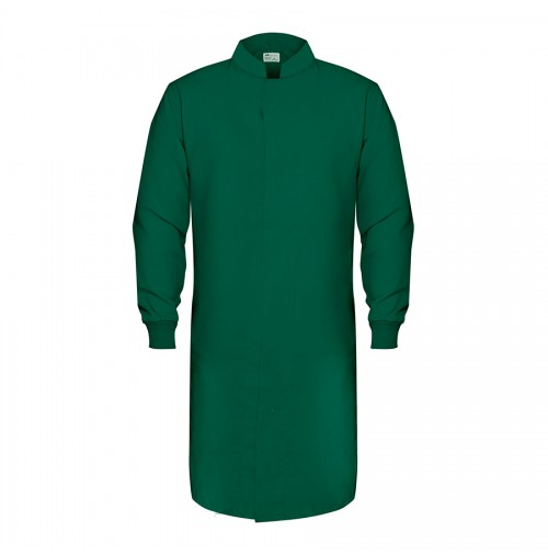 HACCP Knit Cuff Lab Coat, Forest Green