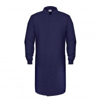 HACCP Knit Cuff Lab Coat, Navy
