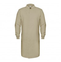 HACCP Knit Cuff Lab Coat, Tan