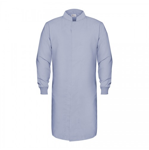HACCP Knit Cuff Lab Coat, Wedgewood Blue