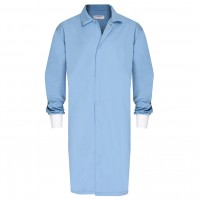 HACCP Frock, No Pocket, Knit Cuff, Light Blue