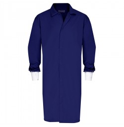 HACCP Frock, No Pocket, Knit Cuff, Navy