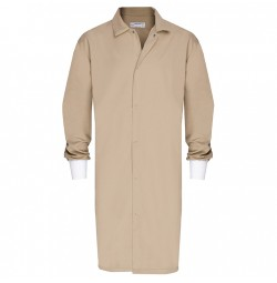 HACCP Frock, No Pocket, Knit Cuff, Tan