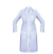 Female Lab Coat, 3 Pocket, LS, Buttons