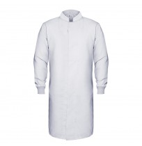 HACCP Knit Cuff Lab Coat, White
