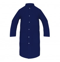 Lab Coats, 100% Spun Poly, Navy Blue
