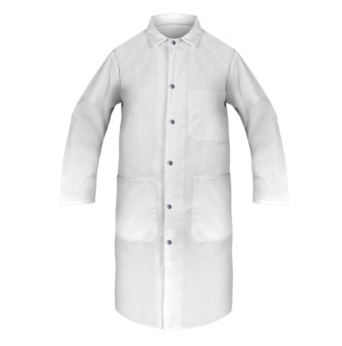 Lab Coats, 100% Spun Poly, White