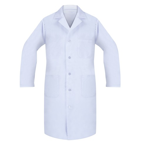 Lab Coats, 80/20, Button Closure