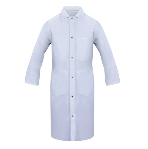 Lab Coat, 80/20, Gripper Closure