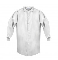 Lab Coat w/Knit Cuffs, No Pocket, White
