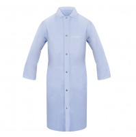 Lab Coat,  No Pocket, Snap Front, Light Blue