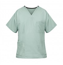 Unisex Reversible Scrub Top, Misty Green