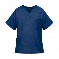 Unisex Reversible Scrub Top, Navy Blue