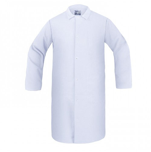 Butcher Frock, 3 Inside Pockets, White