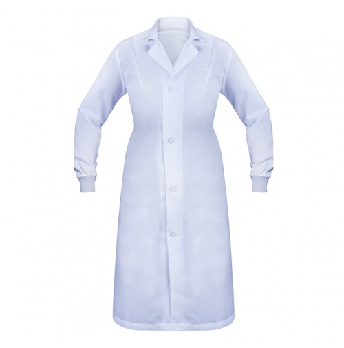 Female Lab Coat, No Pockets