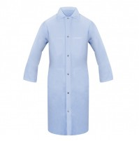 Lab Coat w/Knit Cuffs, No Pocket, Light Blue