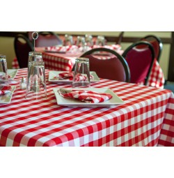 Plain Checkpoint Table Linens