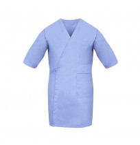Smock Wrap, Short Sleeve, 3 Pocket, Light Blue