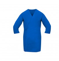 Smock Wrap, 3/4 Sleeve, No Pocket, Cadet Blue