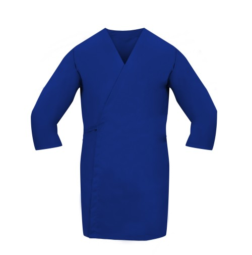 Smock Wrap, 3/4 Sleeve, No Pocket, Navy Blue