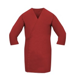 Smock Wrap, 3/4 Sleeve, No Pocket, Red