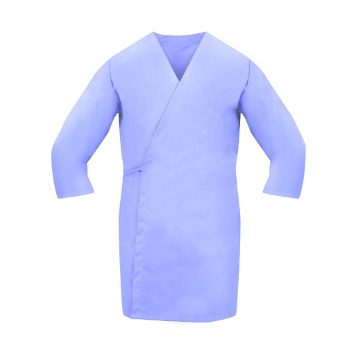 Smock Wrap, 3/4 Sleeve, No Pocket, Light Blue