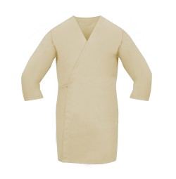 Smock Wrap, 3/4 Sleeve, No Pocket, Tan