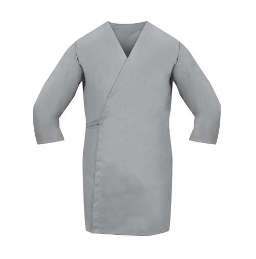 Smock Wrap, 3/4 Sleeve, No Pocket, Gray
