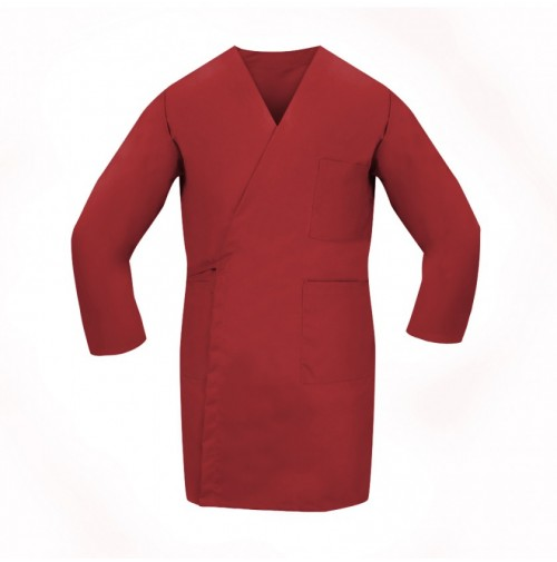 Smock Wrap, LS, 3 Pocket, Red