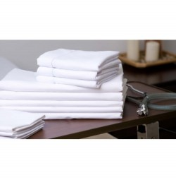 T-180 Percale White Hospital Sheets