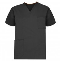 Unisex Reversible Scrub Top, Black