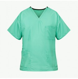 Unisex Reversible Scrub Top, Jade Green