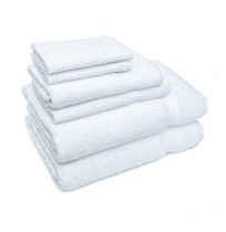 Plush Hotel Towels - 86/14, White