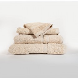 RSVP Beige Towel Collection, Dobby Border